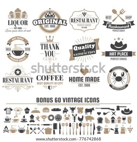Coffee Badge Logos Vector - Download Free Vectors, Clipart