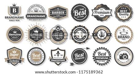Vintage Retro Vector Logo for banner, poster, flyer Stock photo ©