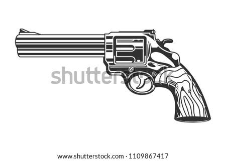 vintage revolver handgun