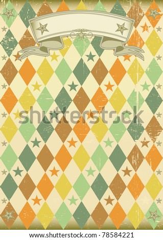 vintage rhombus pattern poster An old poster for your party