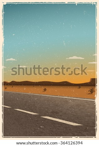 vintage road poster template ...