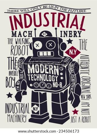 vintage robot design