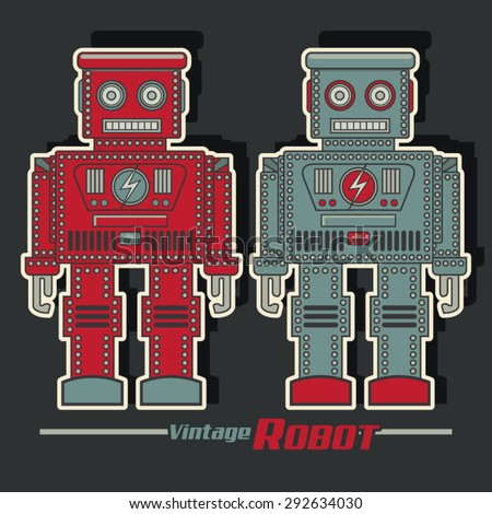 vintage robot illustration
