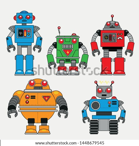 vintage robots bring back to
