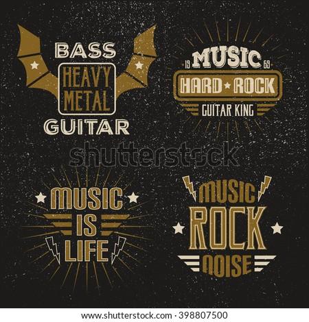 vintage rock posters retro