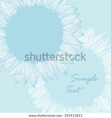 Vintage romantic background with blue flowers - stock vector