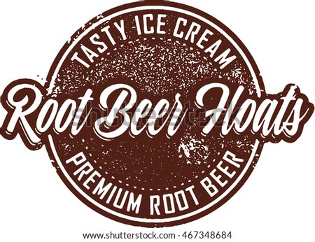 vintage root beer float sign