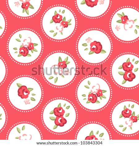 Vintage rose pattern. Seamless vector. Retro rose wallpaper
