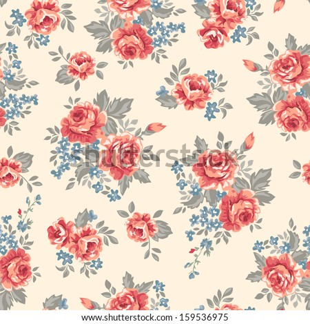 vintage roses   seamless vector ...