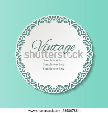 vintage round lacy ornamental...