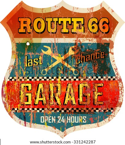 vintage route sixty six garage...
