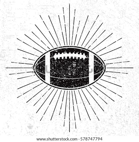 vintage rugby ball with