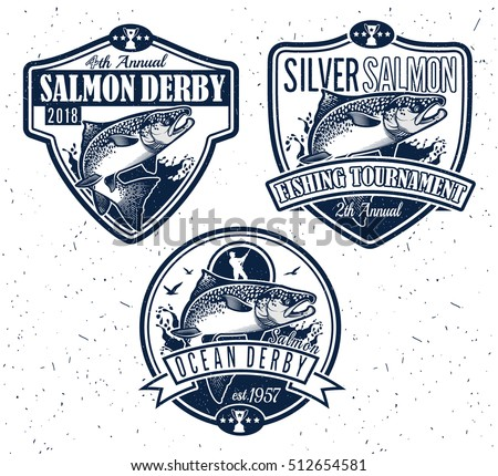 Free Vintage Fishing Vector Badge - Download Free Vector Art