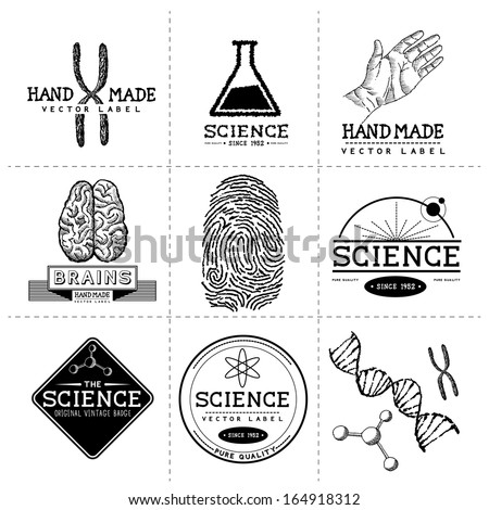 vintage science labels