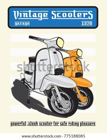 vintage scooters garage lambretta