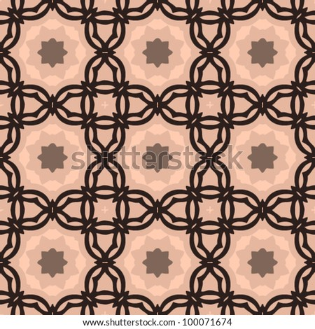 Vintage seamless abstract ornate pattern background vector illustration