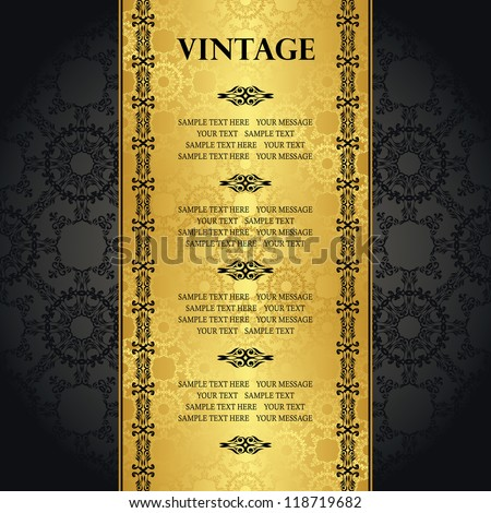 Vintage seamless background with space for text. Can be used as greeting card, invitation, menu and more