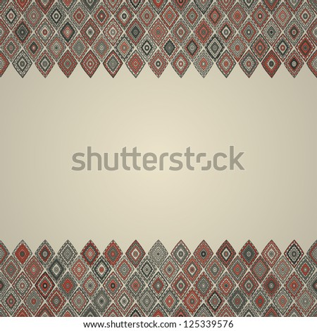 vintage seamless border pattern - stock vector
