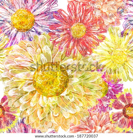 Vintage seamless floral pattern.  Vector, EPS 10  - stock vector