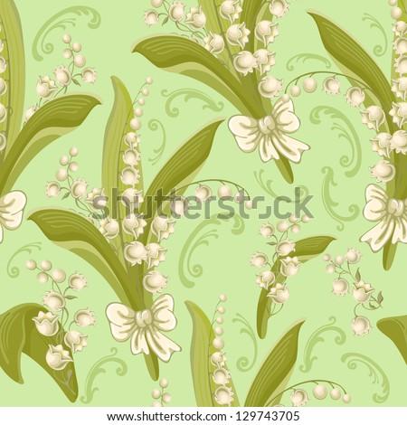 vintage seamless floral pattern ...