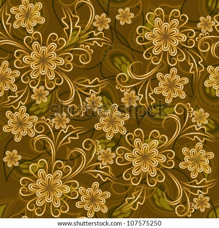 Vintage seamless floral texture