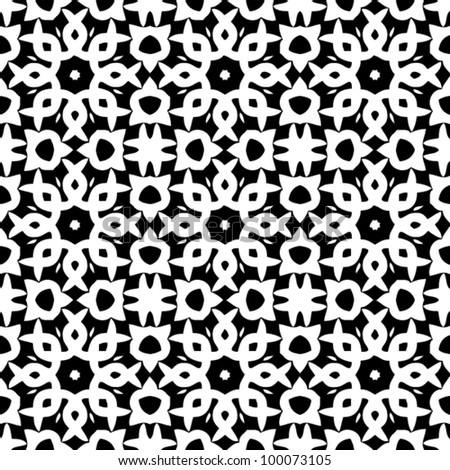 Vintage seamless ornate black and white pattern background vector illustration