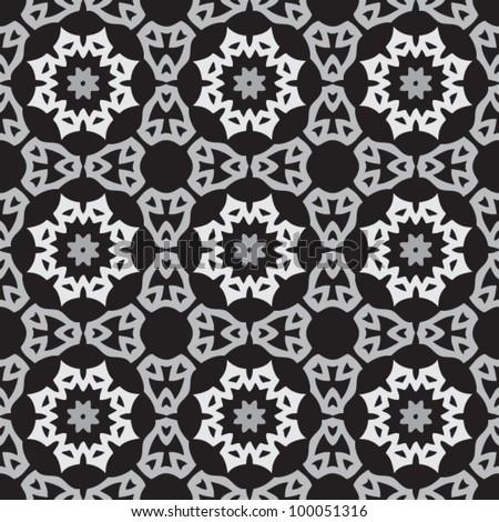 Vintage seamless ornate pattern background vector illustration