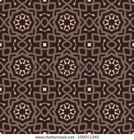 Vintage seamless ornate pattern background vector illustration
