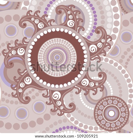 Vintage seamless paisley abstract vector texture for design