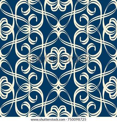 vintage seamless pattern in...