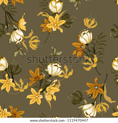 stock-vector-vintage-seamless-pattern-vector-with-tulips-flowers-hand-drawing-illustration-with-wild-floral-for