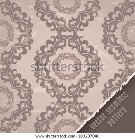 vintage seamless pattern wallpaper beige