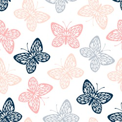 Vintage seamless pattern with butterflies.