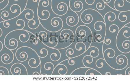 Vintage seamless pattern with elements. Elegant luxury texture for wallpapers, backgrounds and page fill.