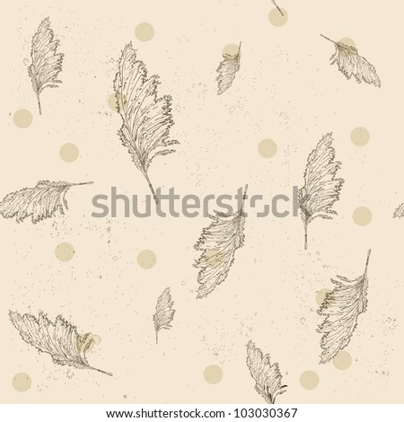 Vintage seamless texture with cane. Vector illustration EPS8