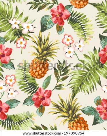 vintage seamless tropical
