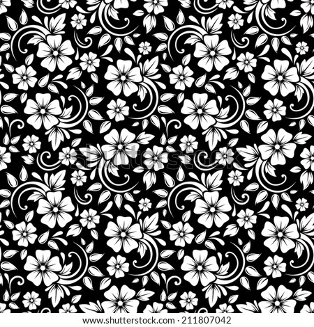 Black And White Outline Flowers Free Vector Download 25 726 Free