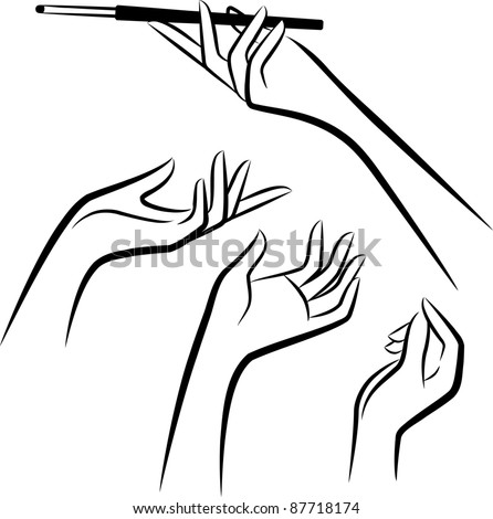 Astounding hand drawn line vector pictures