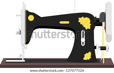 Free Vintage Sewing Machine Vector Download Free Vector Art Stock Classy Vintage Sewing Machines