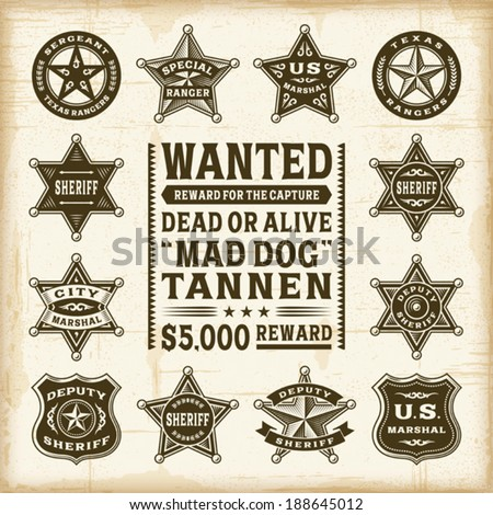 vintage sheriff  marshal and...