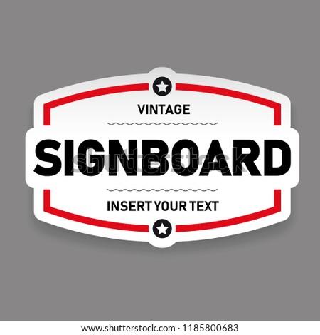 Vintage sign board vector