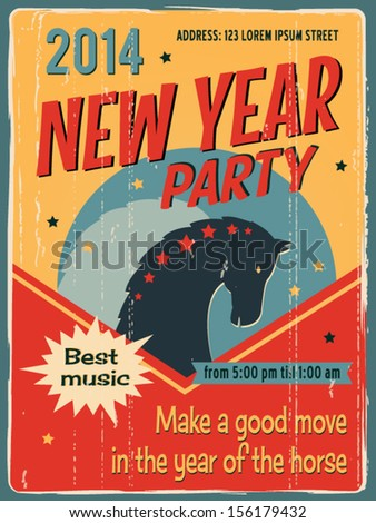 Vintage sign New Year Party