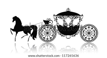 Horse And Carriage Logo of a Horse Carriage