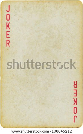 vintage simple background : playing card - joker
