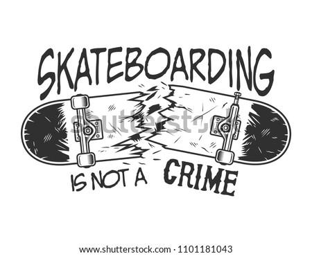 vintage skateboarding logotype