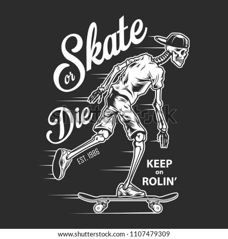 vintage skateboarding white