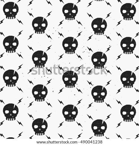 vintage skulls pattern