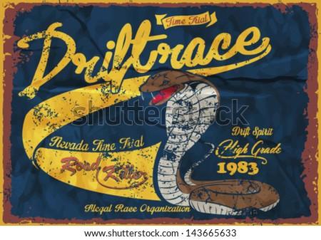 vintage snake illustration ...