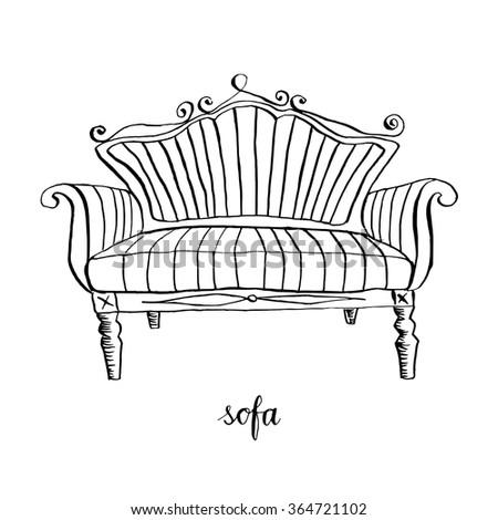 vintage sofa  vintage furniture