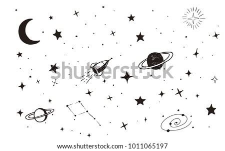 vintage space background with...